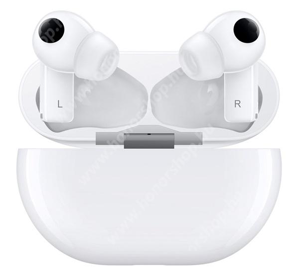 HUAWEI Honor 20 lite HUAWEI FREEBUDS PRO bluetooth SZTEREO fülhallgató - mikrofon, mini, érintésvezérlés + töltőtok - FEHÉR - 55033755 - GYÁRI