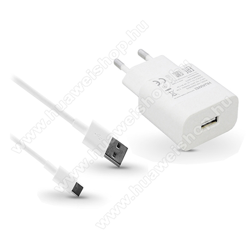 Huawei MediaPad M5 10 (2018)HUAWEI hálózati töltő - 1x USB aljazt, 5V/2A; 9V/2A, gyorstöltés támogatás + 1m hosszú AP51 Type-C adatátviteli / töltő kábel - FEHÉR - AP32 HW-059200EHQ + AP51 - GYÁRI