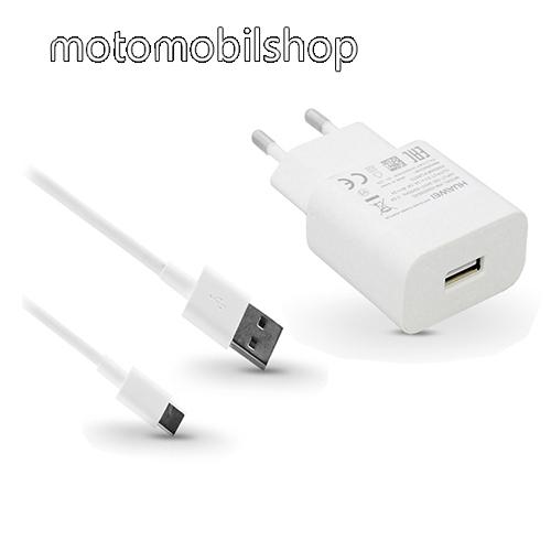 HUAWEI hálózati töltő - 1x USB aljazt, 5V/2A; 9V/2A, gyorstöltés támogatás + 1m hosszú AP51 Type-C adatátviteli / töltő kábel - FEHÉR - AP32 HW-059200EHQ + AP51 - GYÁRI