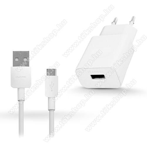 HUAWEI hálózati töltő - 5V/2A, USB aljzat, 1m-es microUSB 2.0 adatátviteli / töltő kábellel - FEHÉR - HW-050200E02 + PY0857 microUSB kábel - GYÁRI - Csomagolás nélküli