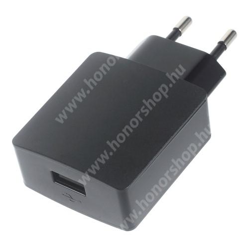 HUAWEI Honor Holly HUAWEI hálózati töltő - 5V/2A, USB aljzattal - HW-050200E3W - FEKETE - GYÁRI