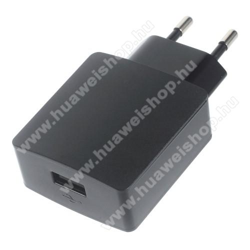 HUAWEI Ascend Plus (H881C)HUAWEI hálózati töltő - 5V/2A, USB aljzattal - HW-050200E3W - FEKETE - GYÁRI