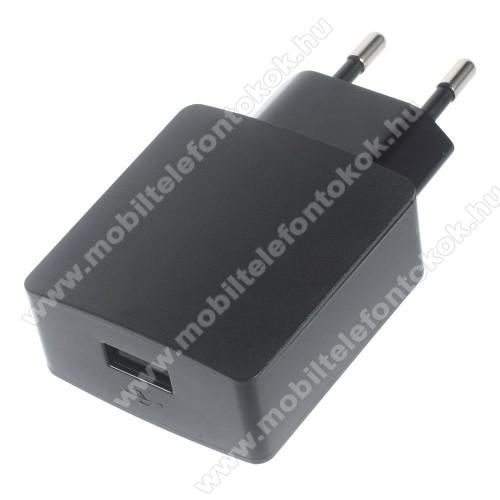 HUAWEI hálózati töltő - 5V/2A, USB aljzattal - HW-050200E3W - FEKETE - GYÁRI