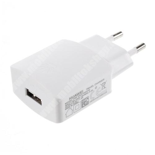 HUAWEI hálózati töltő - USB aljzattal, 5V/1000mAh - FEHÉR - HW-050100E2W - GYÁRI - Csomagolás nélküli