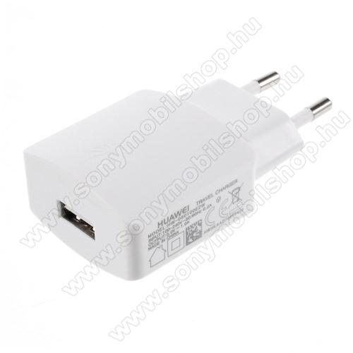 SONY Xperia XA2HUAWEI hálózati töltő - USB aljzattal, 5V/1000mAh - FEHÉR - HW-050100E2W - GYÁRI - Csomagolás nélküli