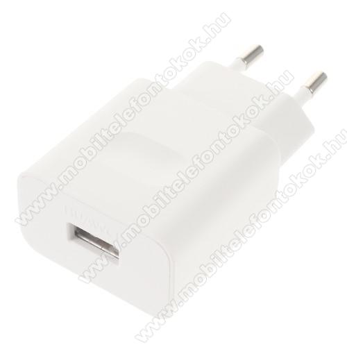 Google Pixel 3HUAWEI hálózati töltő USB aljzattal - FEHÉR - gyorstöltő, 5V/2A vagy 9V/2A Hisilicon fast charge, HW-059200EHQ - GYÁRI