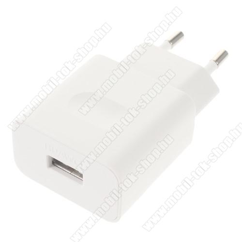 HUAWEI hálózati töltő USB aljzattal - FEHÉR - gyorstöltő, 5V/2A vagy 9V/2A Hisilicon fast charge, HW-059200EHQ - GYÁRI