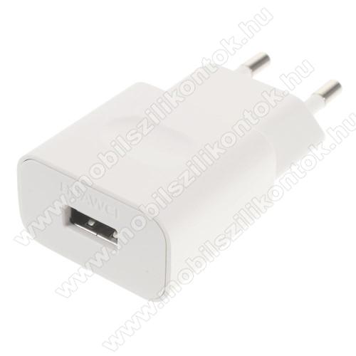 HUAWEI hálózati töltő USB aljzattal - FEHÉR - 5V/1A, HW-050100E01 - GYÁRI