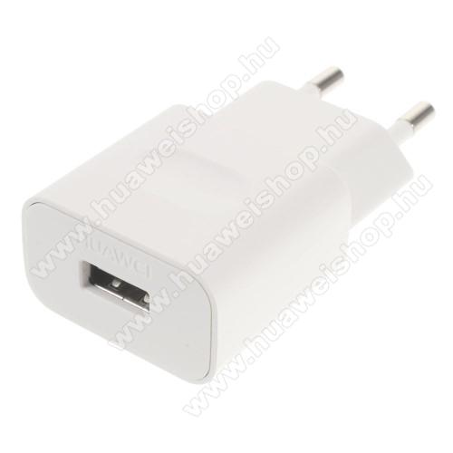 HUAWEI Mate 20 ProHUAWEI hálózati töltő USB aljzattal - FEHÉR - 5V/1A, HW-050100E01 - GYÁRI