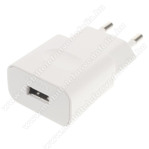 ZTE S30 SEHUAWEI hálózati töltő USB aljzattal - FEHÉR - 5V/1A, HW-050100E01 - GYÁRI