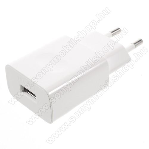 SONY Xperia XA2HUAWEI hálózati töltő USB aljzattal HW-050200E01 - FEHÉR - gyorstöltő, 5V/2A - GYÁRI