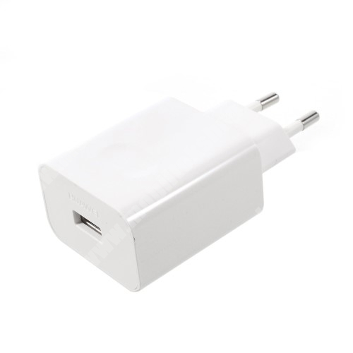 MOTOROLA Moto G4 HUAWEI hálózati töltő USB aljzattal - SuperCharge gyorstöltés támogatás - 5V / 2A, 4.5V / 5A, 5V / 4.5A - FEHÉR - HW-050450E00 - GYÁRI