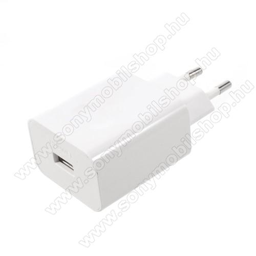SONY Xperia 10 Plus (2019)HUAWEI hálózati töltő USB aljzattal - SuperCharge gyorstöltés támogatás - 5V / 2A, 4.5V / 5A, 5V / 4.5A - FEHÉR - HW-050450E00 - GYÁRI
