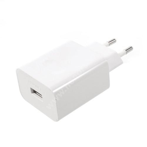 HUAWEI Honor 8X Max HUAWEI hálózati töltő USB aljzattal - SuperCharge gyorstöltés támogatás - 5V / 2A, 4.5V / 5A, 5V / 4.5A - FEHÉR - HW-050450E00 - GYÁRI