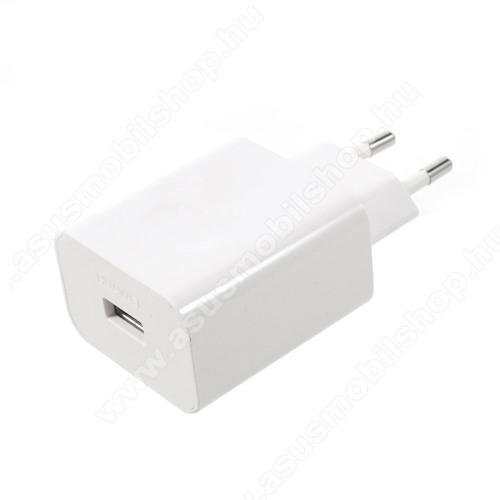 ASUS Zenfone C (ZC451CG)HUAWEI hálózati töltő USB aljzattal - SuperCharge gyorstöltés támogatás - 5V / 2A, 4.5V / 5A, 5V / 4.5A - FEHÉR - HW-050450E00 - GYÁRI