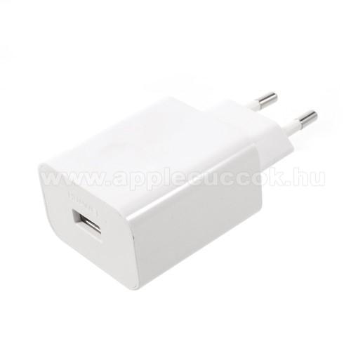 APPLE iPhone 8 PlusHUAWEI hálózati töltő USB aljzattal - SuperCharge gyorstöltés támogatás - 5V / 2A, 4.5V / 5A, 5V / 4.5A - FEHÉR - HW-050450E00 - GYÁRI
