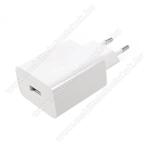 LG G5 (H850)HUAWEI hálózati töltő USB aljzattal - SuperCharge gyorstöltés támogatás - 5V / 2A, 4.5V / 5A, 5V / 4.5A - FEHÉR - HW-050450E00 - GYÁRI