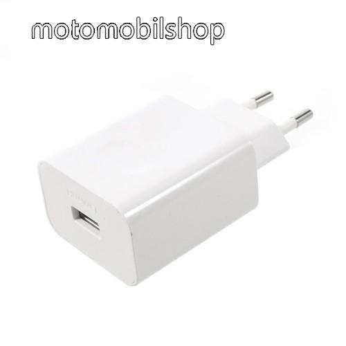 MOTOROLA Moto Maxx HUAWEI hálózati töltő USB aljzattal - SuperCharge gyorstöltés támogatás - 5V / 2A, 4.5V / 5A, 5V / 4.5A - FEHÉR - HW-050450E00 - GYÁRI