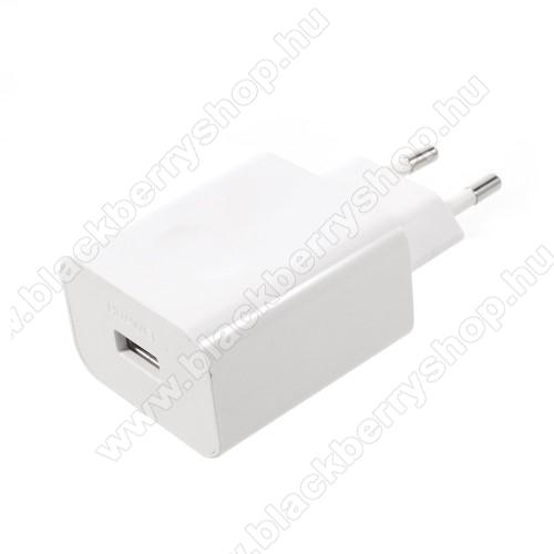 BLACKBERRY AuroraHUAWEI hálózati töltő USB aljzattal - SuperCharge gyorstöltés támogatás - 5V / 2A, 4.5V / 5A, 5V / 4.5A - FEHÉR - HW-050450E00 - GYÁRI