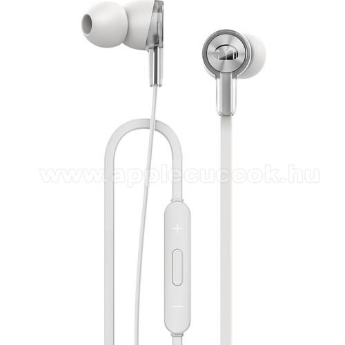 HUAWEI Honor AM15 sztereo headset - FEH�R - 3,5mm jack, mikrofon, felvev? �s hanger? szab�lyz� gombok - GY�RI