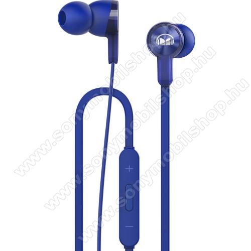 HUAWEI Honor AM15 sztereo headset - KÉK - 3,5mm jack, mikrofon, felvevő és hangerő szabályzó gombok - GYÁRI