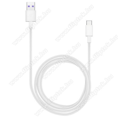 OPPO R17 ProHUAWEI Honor AP71 SuperCharge adatátvitel adatkábel és USB töltő - FEHÉR - USB / USB Type-C, 1m, USB 2.0, 5A! - GYÁRI
