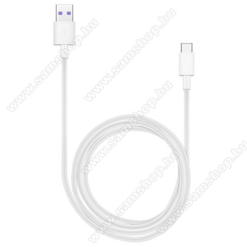 SAMSUNG SM-A600F Galaxy A6 (2018)HUAWEI Honor AP71 SuperCharge adatátvitel adatkábel és USB töltő - FEHÉR - USB / USB Type-C, 1m, USB 2.0, 5A! - GYÁRI