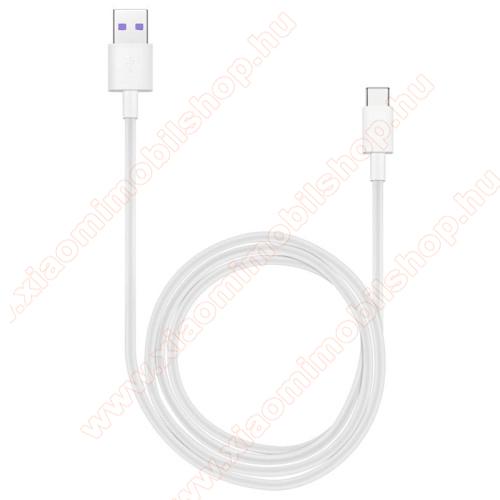 Xiaomi Mi 10 Lite 5GHUAWEI Honor AP71 SuperCharge adatátvitel adatkábel és USB töltő - FEHÉR - USB / USB Type-C, 1m, USB 2.0, 5A! - GYÁRI