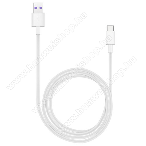 HUAWEI Mate 10 ProHUAWEI Honor AP71 SuperCharge adatátvitel adatkábel és USB töltő - FEHÉR - USB / USB Type-C, 1m, USB 2.0, 5A! - GYÁRI