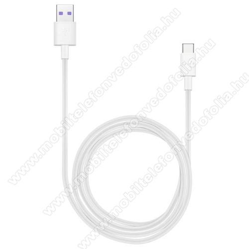 NOKIA 7.1HUAWEI Honor AP71 SuperCharge adatátvitel adatkábel és USB töltő - FEHÉR - USB / USB Type-C, 1m, USB 2.0, 5A! - GYÁRI