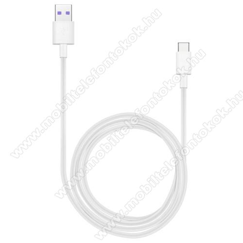 Xiaomi Mi Pad 4 PlusHUAWEI Honor AP71 SuperCharge adatátvitel adatkábel és USB töltő - FEHÉR - USB / USB Type-C, 1m, USB 2.0, 5A! - GYÁRI