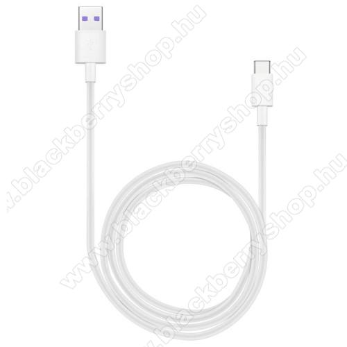 BLACKBERRY KEY2 LEHUAWEI Honor AP71 SuperCharge adatátvitel adatkábel és USB töltő - FEHÉR - USB / USB Type-C, 1m, USB 2.0, 5A! - GYÁRI
