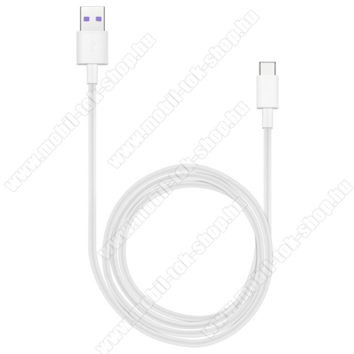 HUAWEI Honor AP71 SuperCharge adatátvitel adatkábel és USB töltő - FEHÉR - USB / USB Type-C, 1m, USB 2.0, 5A! - GYÁRI