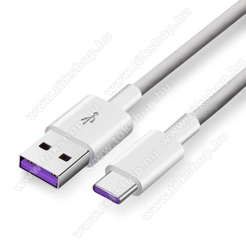 Xiaomi Poco M3 Pro 5GHUAWEI SuperCharge adatátviteli kábel / USB töltő - USB / Type-C, 1m, 5A töltőáram átvitelére képes! - FEHÉR - GYÁRI - Csomagolás nélküli