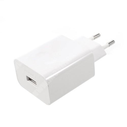 ZTE Blade G V815W (2015) HUAWEI SuperCharge hálózati töltő USB aljzattal - 5V / 2A, 4.5V / 5A, 5V / 4.5A - FEHÉR - HW-050450E00 - GYÁRI