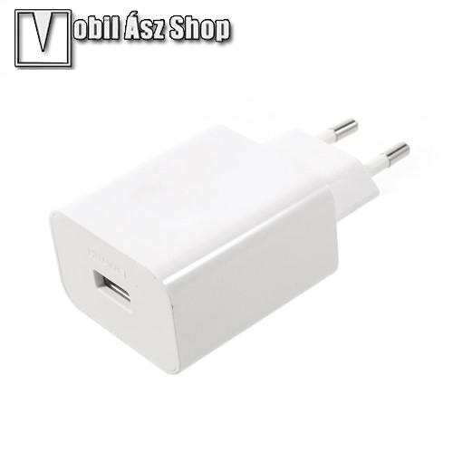 HUAWEI SuperCharge hálózati töltő USB aljzattal - 5V / 2A, 4.5V / 5A, 5V / 4.5A - FEHÉR - GYÁRI