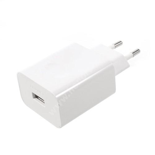 HUAWEI Honor 3C Play HUAWEI SuperCharge hálózati töltő USB aljzattal - 5V / 2A, 4.5V / 5A, 5V / 4.5A - FEHÉR - HW-050450E00 - GYÁRI - Csomagolás nélküli