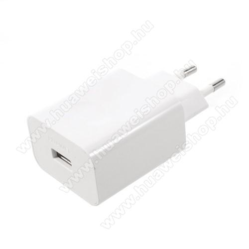 HUAWEI Mate SHUAWEI SuperCharge hálózati töltő USB aljzattal - 5V / 2A, 4.5V / 5A, 5V / 4.5A - FEHÉR - HW-050450E00 - GYÁRI - Csomagolás nélküli