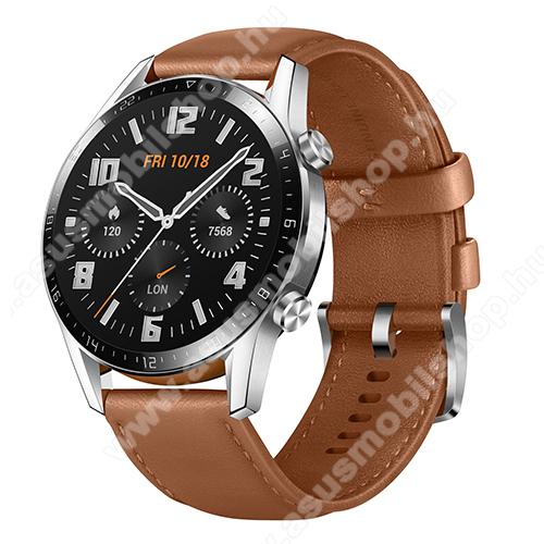 ASUS Zenfone Max Plus (M2) (ZB634KL)HUAWEI Watch GT 2 okosóra - 46mm, beépített GPS, 3D edzett üveg, aktívitás figyelő, valódi bőr szíjjal - BARNA - 55024470 - GYÁRI
