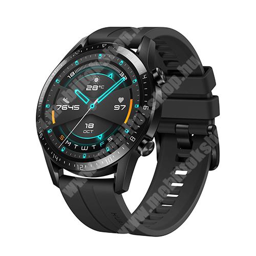 SAMSUNG  Galaxy S Light Luxury (SM-G8750) HUAWEI Watch GT 2 okosóra - 46mm, beépített GPS, 3D edzett üveg, aktívitás figyelő, szilikon szíjjal - FEKETE - 55024474 - GYÁRI