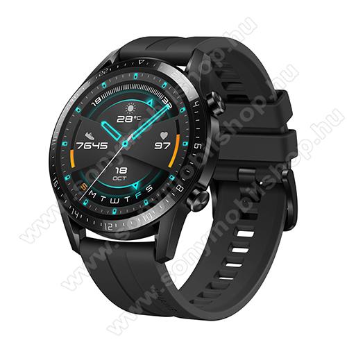 SONY Xperia E4g Dual (E2033 / E2043)HUAWEI Watch GT 2 okosóra - 46mm, beépített GPS, 3D edzett üveg, aktívitás figyelő, szilikon szíjjal - FEKETE - 55024474 - GYÁRI