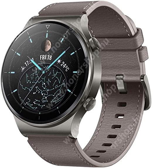 HUAWEI Honor 7X HUAWEI Watch GT 2 PRO okosóra (46mm, GPS, 3D edzett üveg, aktívitás figyelő, valódi bőr szíjjal) SZÜRKE- 55025792 - GYÁRI