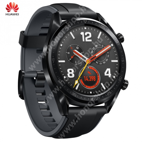 HUAWEI Honor Waterplay 8 HUAWEI Watch GT FORTUNA okosóra - szilikon szíjjal - FEKETE - FTN-B19_B - GYÁRI