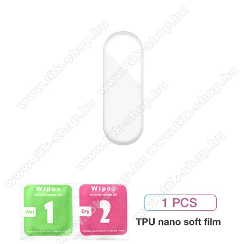 Hydrogel okosóra képernyővédő fólia - 1db - 3D Curved, A teljes képernyőt védi - ÁTLÁTSZÓ - Xiaomi Mi Band 5