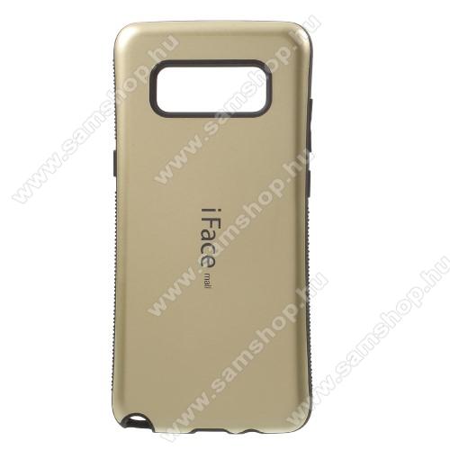 iFace műanyag védő tok / hátlap - ARANY - szilikon betétes, ERŐS VÉDELEM! - SAMSUNG SM-N950F Galaxy Note8