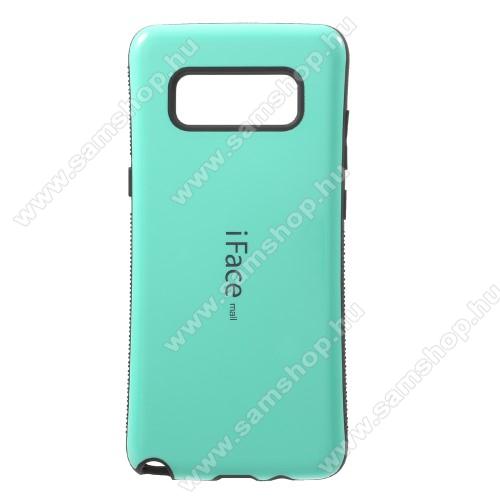 iFace műanyag védő tok / hátlap - CYAN KÉK - szilikon betétes, ERŐS VÉDELEM! - SAMSUNG SM-N950F Galaxy Note8