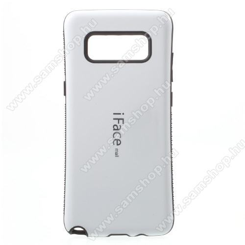 iFace műanyag védő tok / hátlap - FEHÉR - szilikon betétes, ERŐS VÉDELEM! - SAMSUNG SM-N950F Galaxy Note8