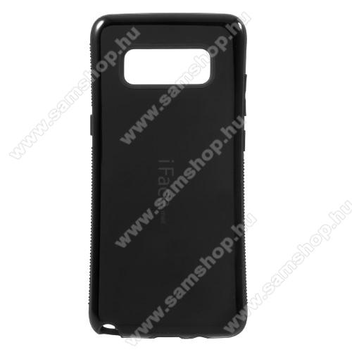 iFace műanyag védő tok / hátlap - FEKETE - szilikon betétes, ERŐS VÉDELEM! - SAMSUNG SM-N950F Galaxy Note8