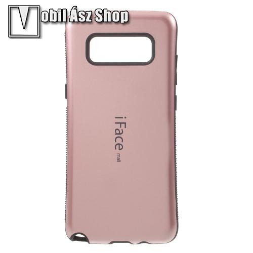iFace műanyag védő tok / hátlap - ROSE GOLD - szilikon betétes, ERŐS VÉDELEM! - SAMSUNG SM-N950F Galaxy Note8