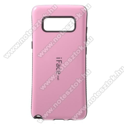 iFace műanyag védő tok / hátlap - RÓZSASZÍN - szilikon betétes, ERŐS VÉDELEM! - SAMSUNG SM-N950F Galaxy Note8